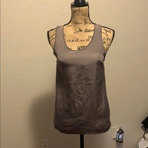 Gray light weight sheer tank top